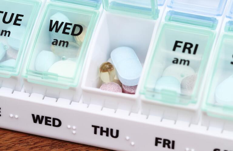 Medicine Pill Box Daily Planner