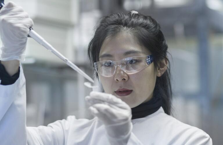 scientist testing in laboratory setting