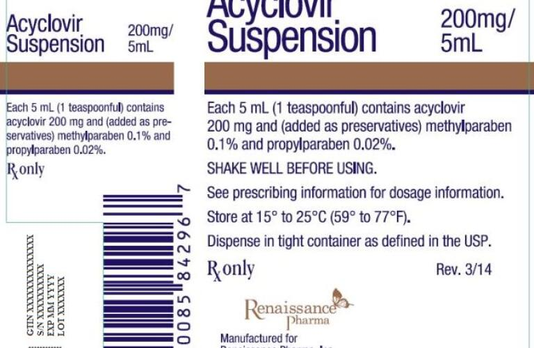 ACYCLOVIR (suspension) Packaging