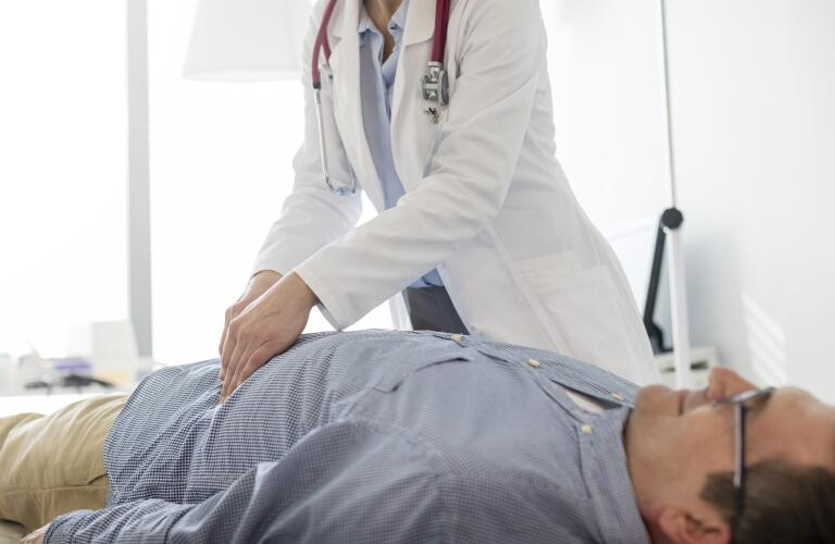 Doctor and patient exam