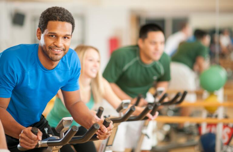 Exercise Spinning Class