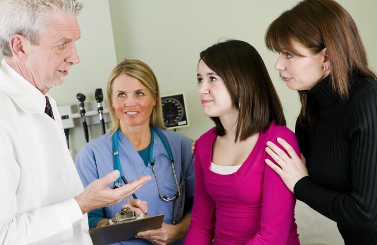 Pediatrician, Nurse and Patient