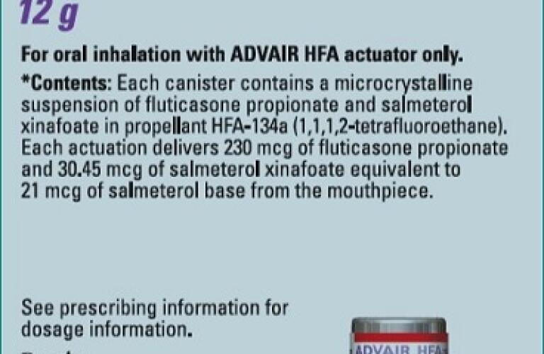 Advair Hfa Healthgrades Fluticasone Propionate And Salmeterol Xinafoate Aerosol Metered