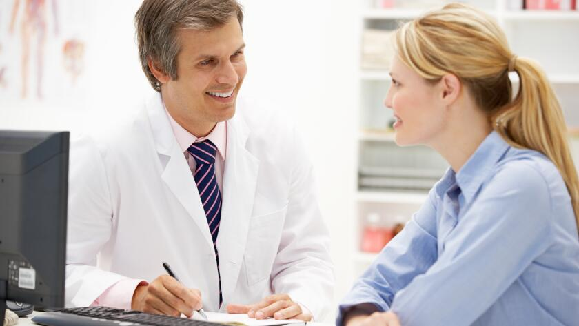 talking to doctor