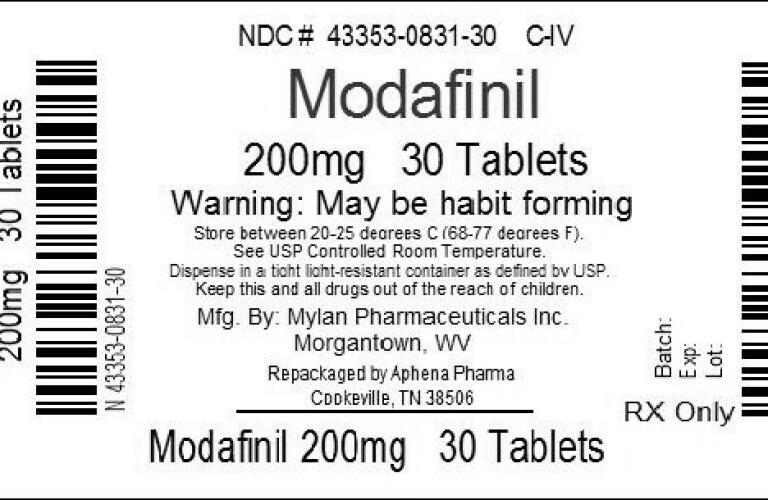 Modafinil 200 mg aspirin