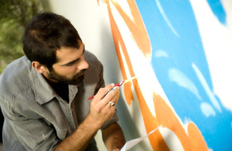 man, painting, art therapy, therapy, art