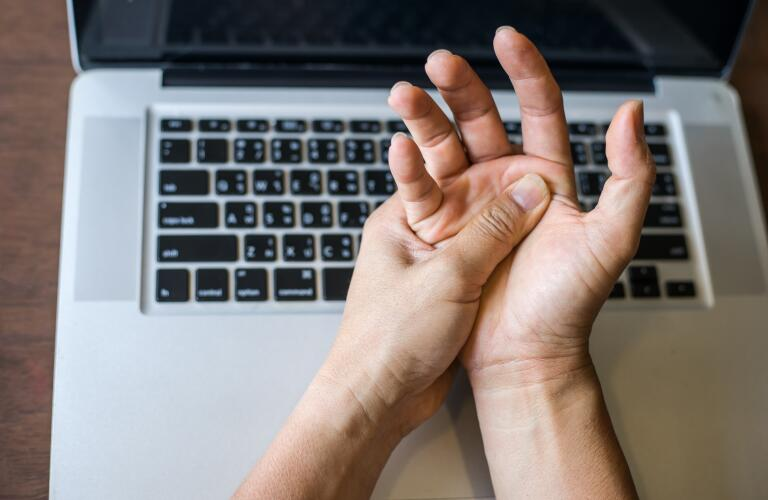 Psoriatic Arthritis In The Hand Stiff Finger Joints Swelling