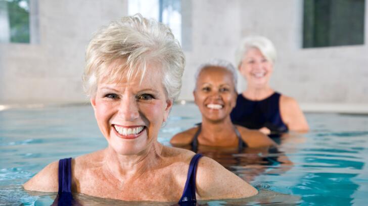 Senior Women in Swimming pool