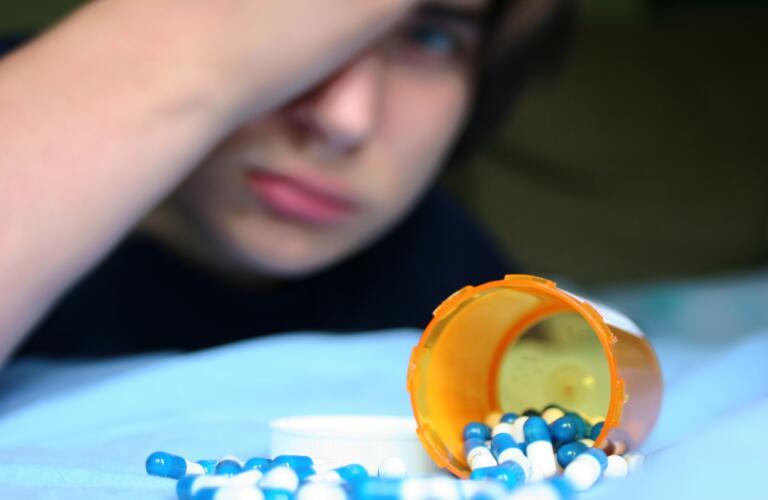 child addicted to pills