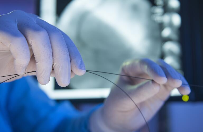 guide wire for angioplasty and stent