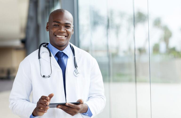 african-american-male-doctor-smiling