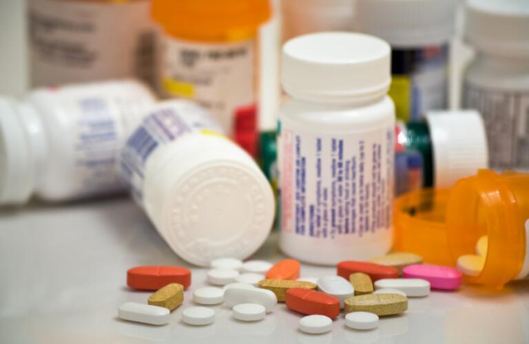 Multiple medicine bottles