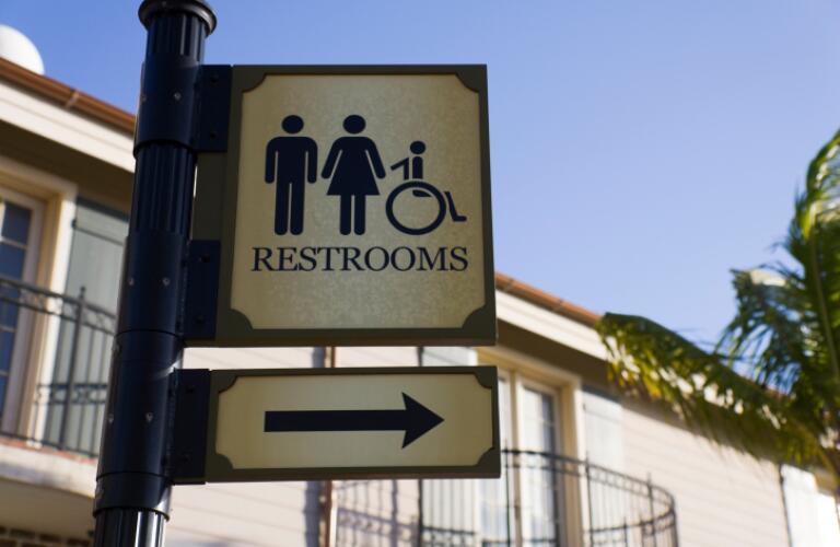 Public Restroom Sign
