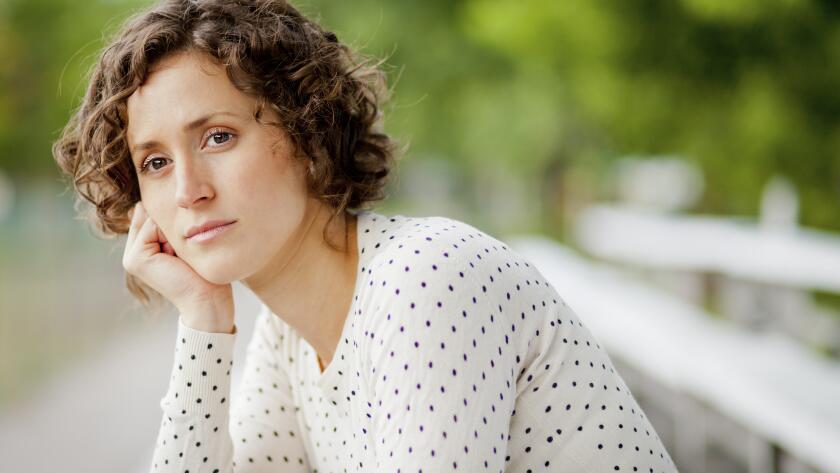 Worried Woman Waiting