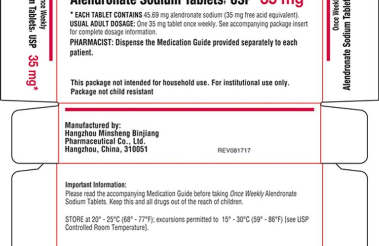 ALENDRONATE (alendronate sodium tablet) Packaging 3