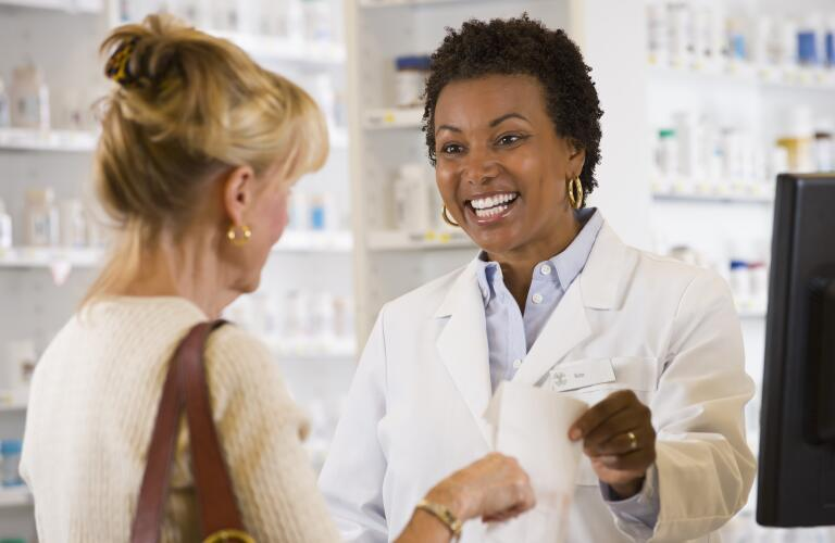 Customer gets help from pharmacist