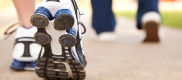 closeup of shoes walking outdoors
