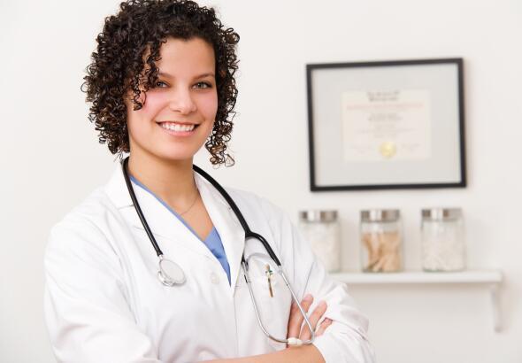 friendly doctor in office
