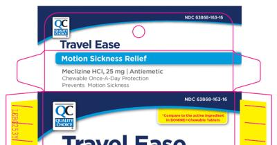 TRAVEL EASE (meclizine hcl tablet, chewable): Side Effects