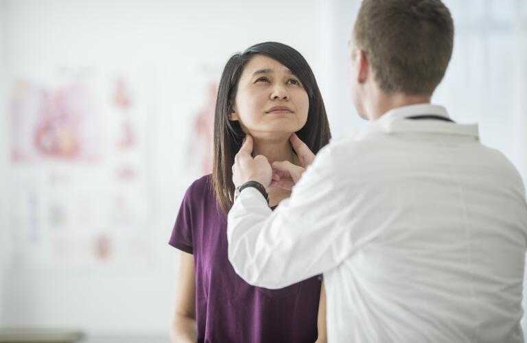 Thyroid exam