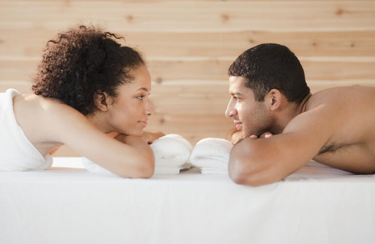 man-and-woman-facing-each-other-at-spa