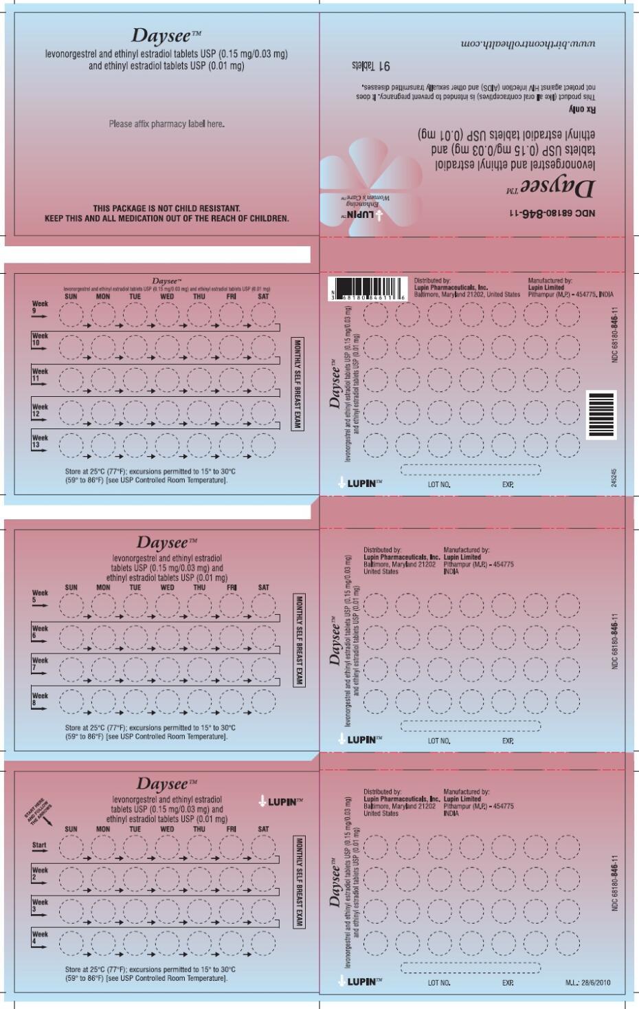 DAYSEE (levonorgestrel and ethinyl estradiol kit): Side