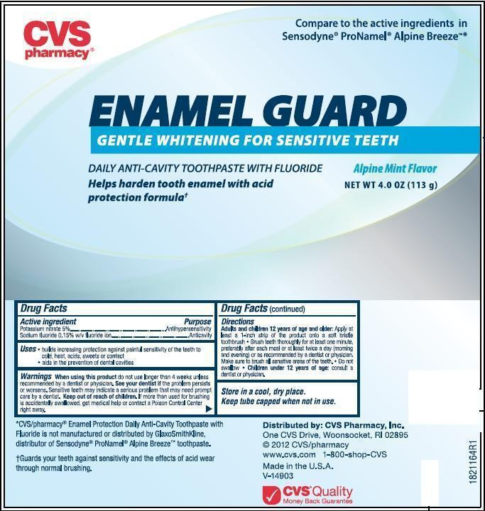 CVS PHARMACY ENAMEL GUARD (fluoride paste, dentifrice): Side