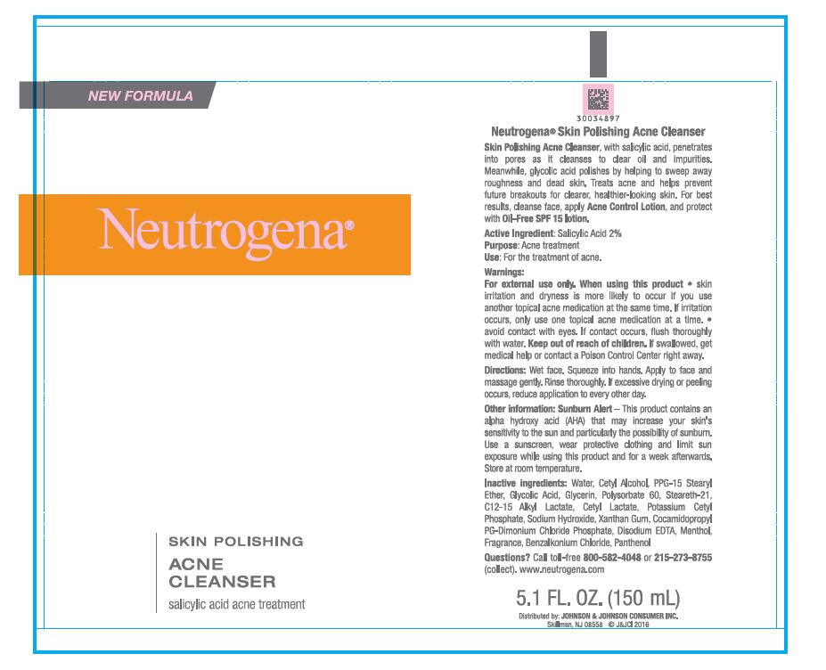 Neutrogena Skin Polishing Acne Cleanser Salicylic Acid Kit