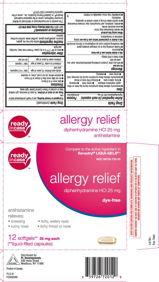 ALLERGY RELIEF ANTIHISTAMINE (diphenhydramine hcl capsule, liquid filled) |  Pictures, Images, Labels | Healthgrades.com