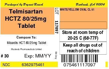 TELMISARTAN AND HYDROCHLOROTHIAZIDE (tablet): Side Effects