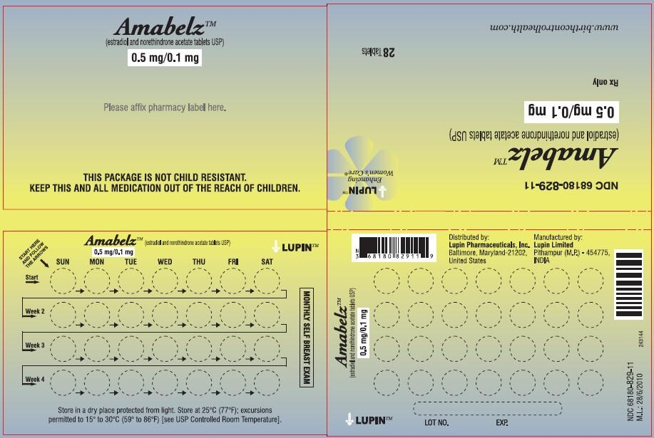AMABELZ (estradiol and norethindrone acetate tablet): Side