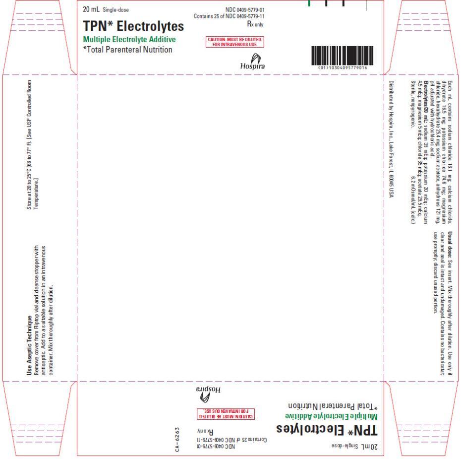 TPN ELECTROLYTES (sodium chloride, calcium chloride