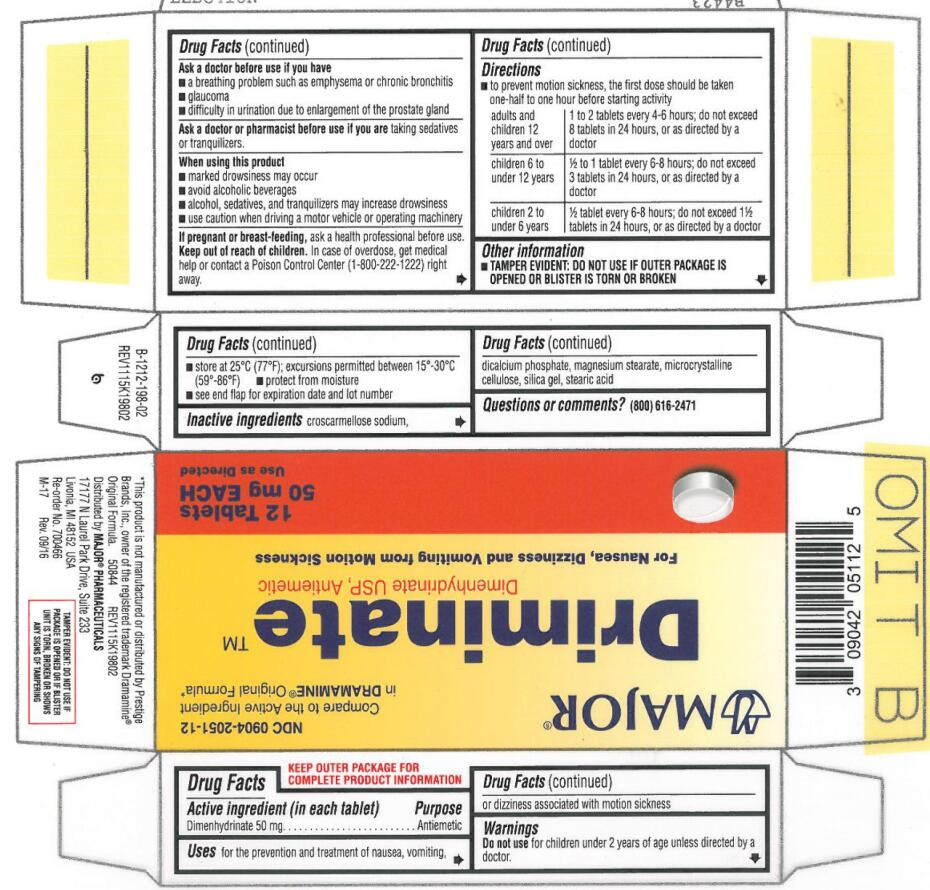 DRIMINATE (dimenhydrinate tablet): Side Effects