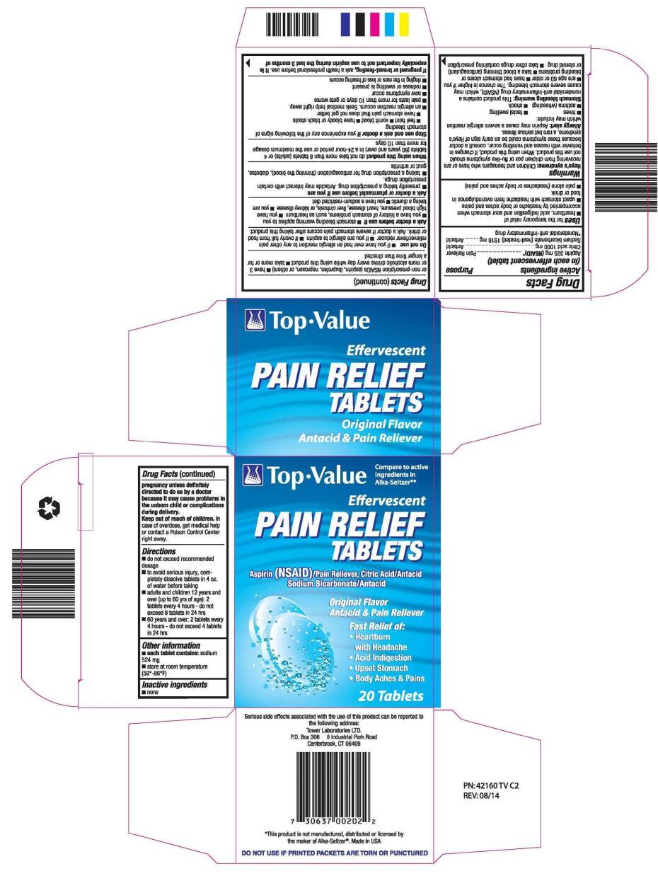 TOP VALUE EFFERVESCENT PAIN RELIEF (apirin, citric acid