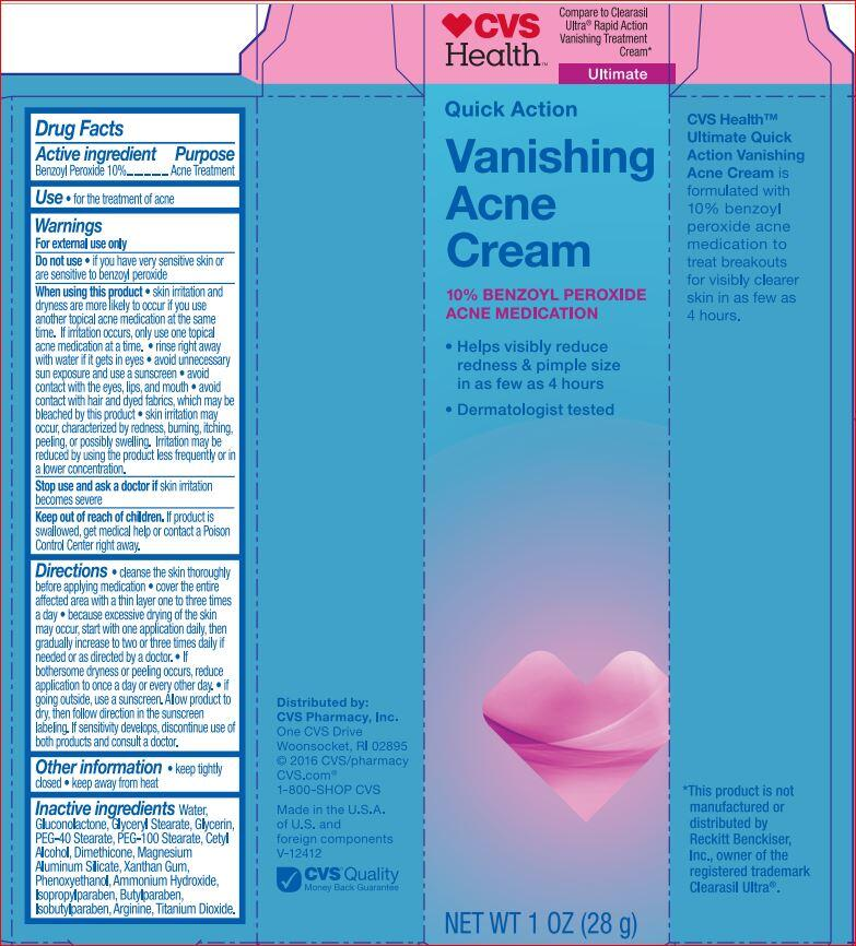 Vanishing Acne Cvs 10 Benzoyl Peroxide Acne Medication Cream