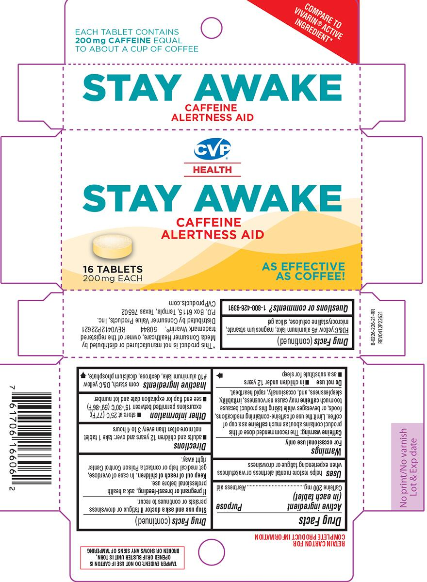 STAY AWAKE (caffeine tablet): Side Effects, Interactions