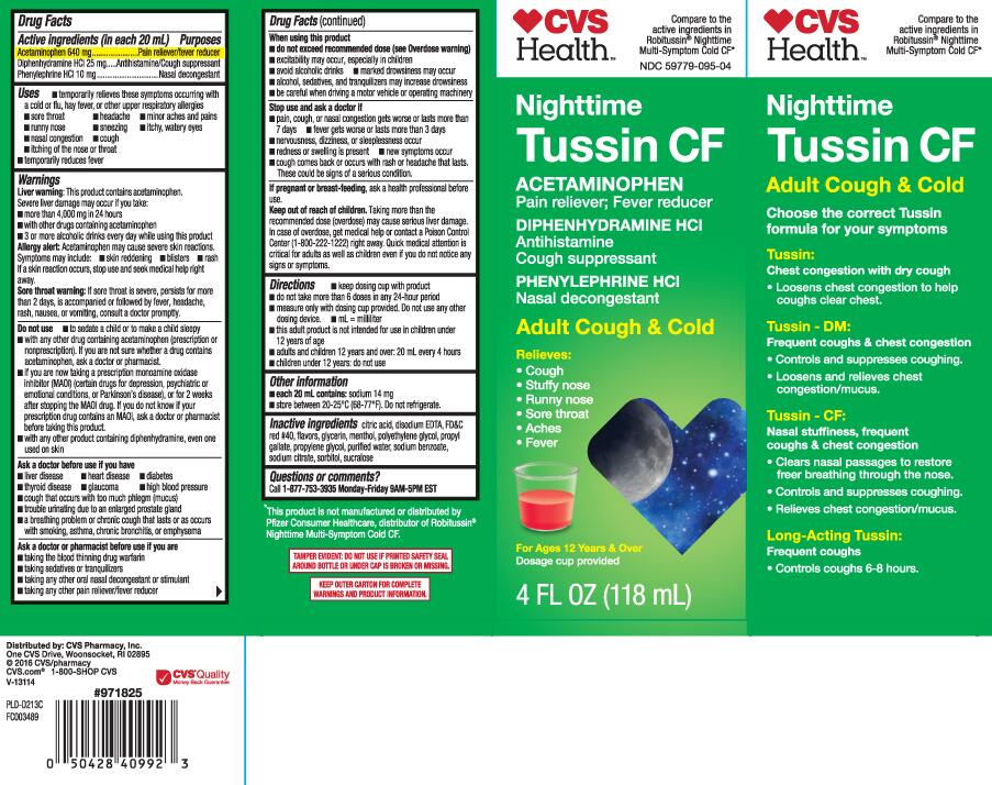 Tussin Cf Nighttime Cough And Cold Acetaminophen Diphenhydramine