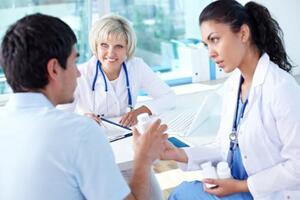 Doctor giving medicine