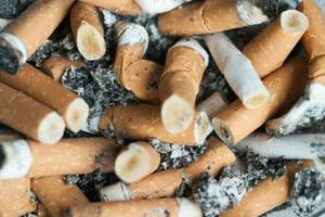 smoking, cigarette butts
