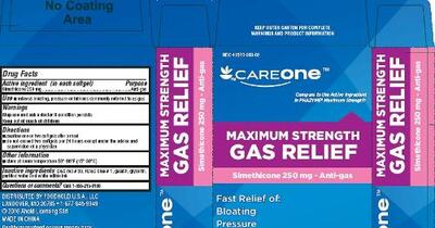 maximum strength gas relief simethicone capsule liquid filled