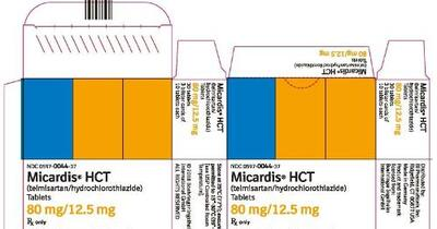 MICARDIS HCT (telmisartan and hydrochlorothiazide tablet