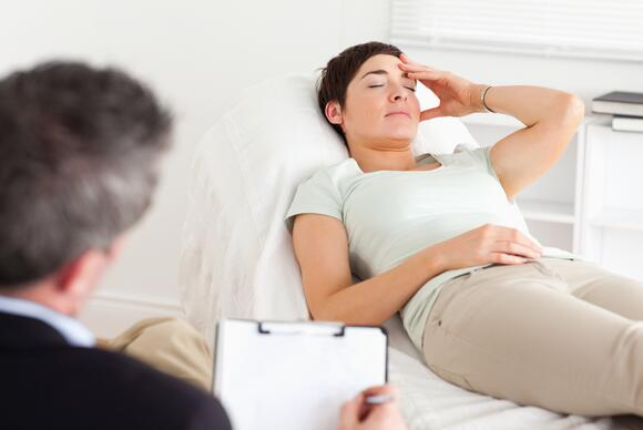 Patient in counseling