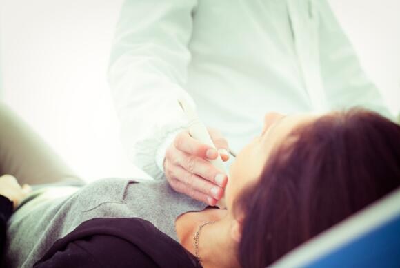 Scanning of a thyroid