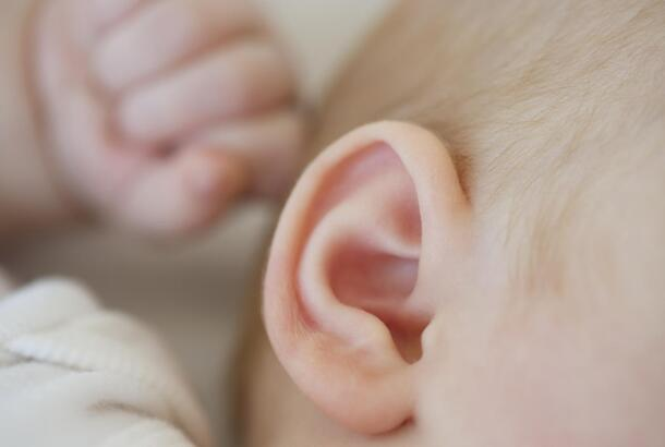 Ear of an infant