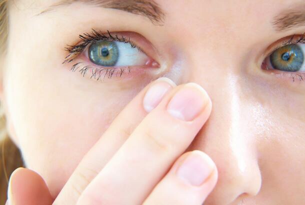 Tears in her eyes