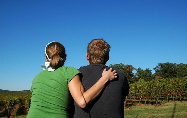 couple comforting