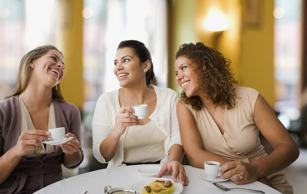 Group of Women Eating Out