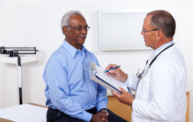 man with doctor, doctor, man, examination, consultation, evaluation